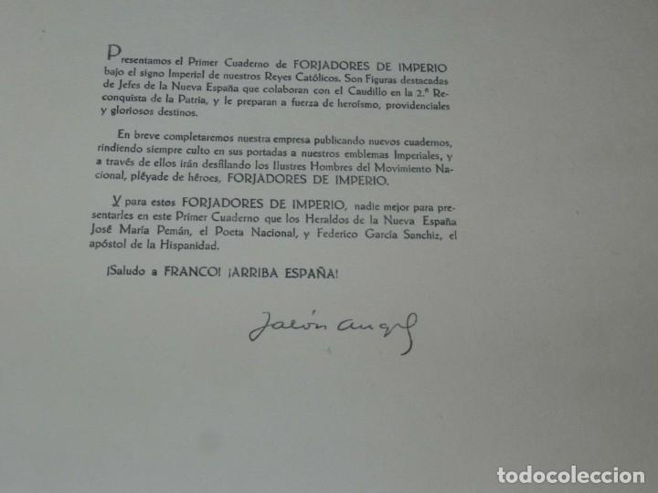 Militaria: FORJADORES DE IMPERIO. Presentados por José M.ª Pemán y Federico García Sanchiz. - JALON, Angel. COM - Foto 10 - 195367272