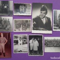 Militaria: LOTE 10 FOTOGRAFIAS HOMBRES MILITARES . Lote 195423912