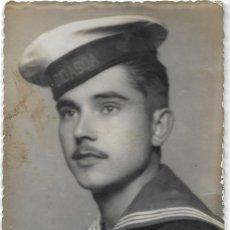 Militaria: FOTOGRAFÍA DE UN MILITAR DEL BARCO BIDASOA FECHADA EN 1948 POR EL FOTÓGRAFO THONY DE PALMA. Lote 195427440