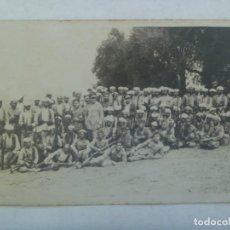 Militaria: GUERRA AFRICA : FOTO DE OFICIALES DE REGULARES Y TROPAS MORAS INDIGENAS. Lote 195447465