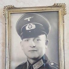 Militaria: ALEMANIA 2ª GUERRA MUNDIAL. FOTOGRAFIA ENMARCADA DE SUBOFICIAL ALEMAN DE LA WEHRMACHT. Lote 195455640