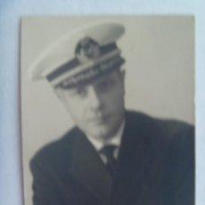 Militaria: FOTO DE OFICIAL DE LA ARMADA DE PAIS EXTRANJERO, DEDICADA A CAPITAN. LAS PALMAS GRAN CANARIA, 1965. Lote 195480741