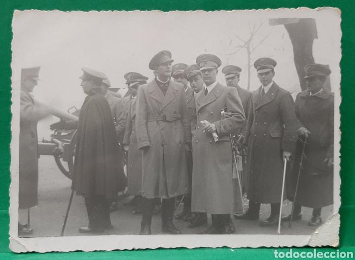 REG. ARTILLERÍA 3. SEVILLA. 4-12-1937. STA. BÁRBARA. CAPITANES ITALIANOS, NOMBRES AL DORSO. (Militar - Fotografía Militar - Guerra Civil Española)