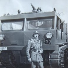Militaria: FOTOGRAFÍA CAMIÓN ORUGA DEL EJÉRCITO ESPAÑOL.. Lote 195757760