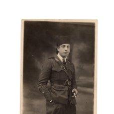 Militaria: POSTAL FOTOGRÁFICA. CUERPO DE REGULARES. DIODORO FOTOGRAFO. 1922. Lote 195768777