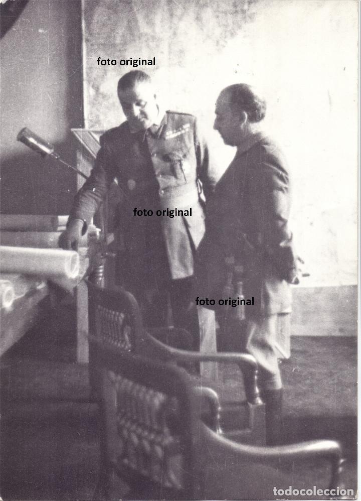 GENERAL FRANCO TENIENTE CORONEL BARROSO MAPA OPERACIONES MILITARES GUERRA CIVIL (Militar - Fotografía Militar - Guerra Civil Española)
