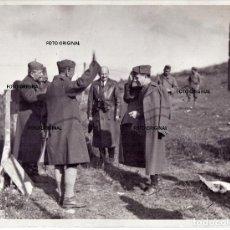 Militaria: MONTE MAZA DE PANDO (BURGOS) GENERALES ITALIANOS CTV FRENTE NORTE RUMBO SANTANDER 1937 GUERRA CIVIL. Lote 195984186