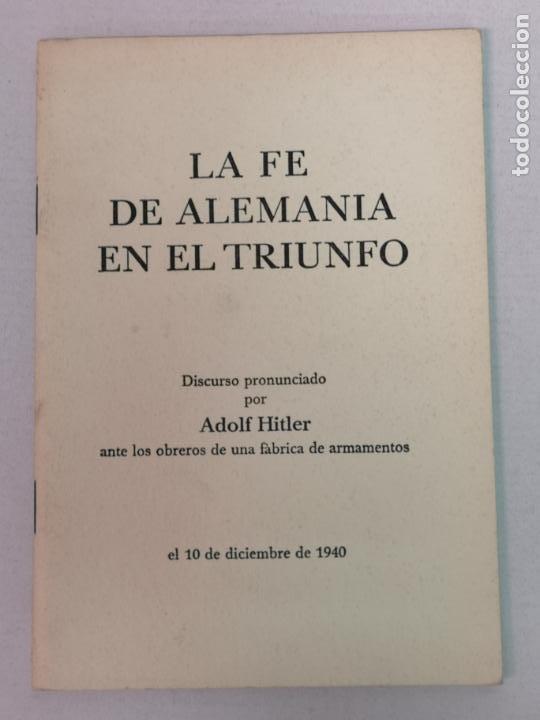 DISCURSO PRONUNCIADO POR HITLER 1940 (Militar - Fotografía Militar - II Guerra Mundial)