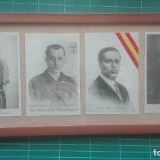 Militaria: CUADRO CON RETRATOS. MILLAN ASTRAY, PRIMO DE RIVERA, CALVO SOTELO, YAGÜE. Lote 196739257