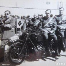Militaria: FOTOGRAFÍA OFICIALES DEL EJÉRCITO ESPAÑOL. MOTOCICLETA. Lote 196755453