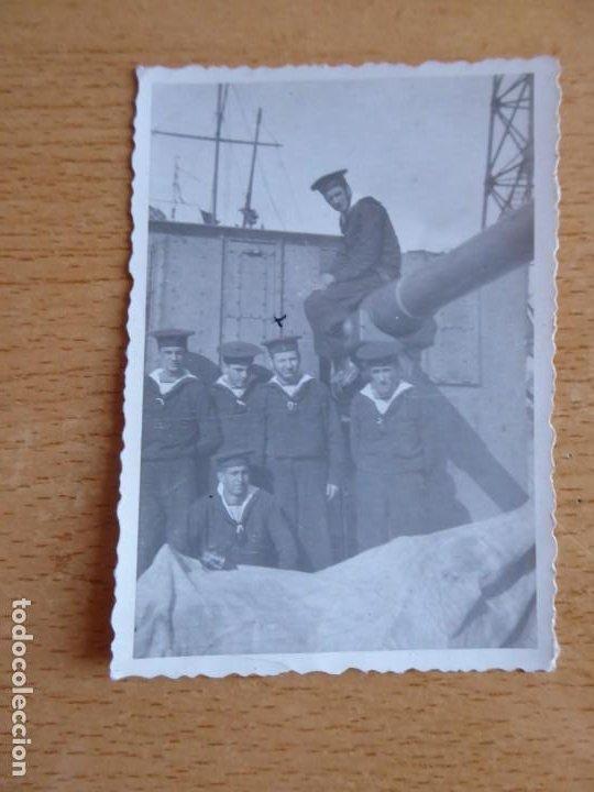 Militaria: Fotografía marineros. Buque Vulcano Armada - Foto 2 - 196756808