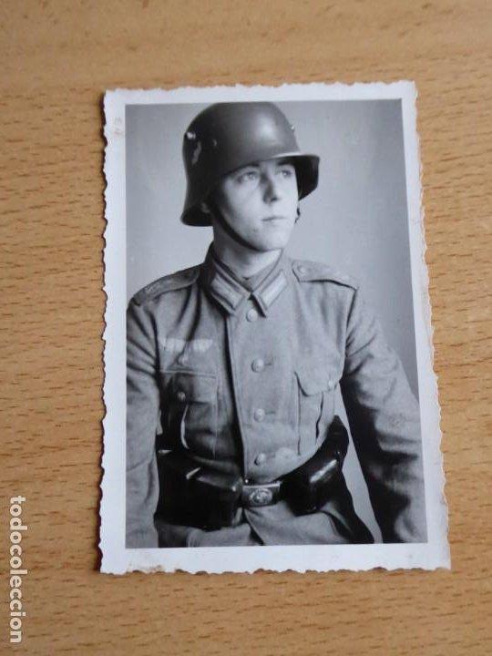 Militaria: Fotografía soldado del ejército alemán. Segunda Guerra Mundial - Foto 2 - 196985951