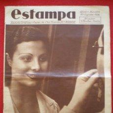 Militaria: REVISTA REPUBLICANA ESTAMPA GUERRA CIVIL 29/08/1936 MILICIANOS EN EL FRENTE MUCHAS FOTOS LAGARTERA. Lote 197679306