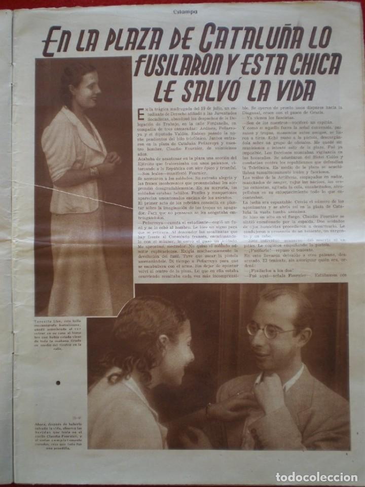 Militaria: REVISTA REPUBLICANA ESTAMPA GUERRA CIVIL 29/08/1936 MILICIANOS EN EL FRENTE MUCHAS FOTOS LAGARTERA - Foto 2 - 197679306