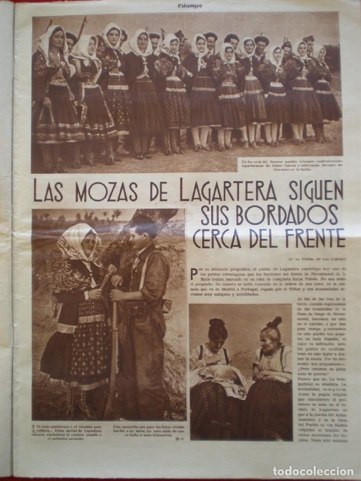 Militaria: REVISTA REPUBLICANA ESTAMPA GUERRA CIVIL 29/08/1936 MILICIANOS EN EL FRENTE MUCHAS FOTOS LAGARTERA - Foto 3 - 197679306