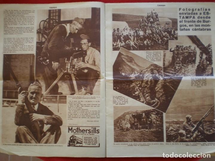Militaria: REVISTA REPUBLICANA ESTAMPA GUERRA CIVIL 29/08/1936 MILICIANOS EN EL FRENTE MUCHAS FOTOS LAGARTERA - Foto 6 - 197679306