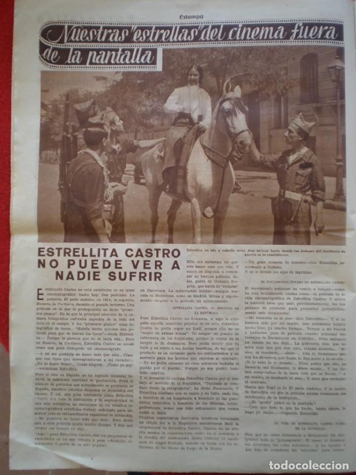 Militaria: REVISTA REPUBLICANA ESTAMPA GUERRA CIVIL 29/08/1936 MILICIANOS EN EL FRENTE MUCHAS FOTOS LAGARTERA - Foto 7 - 197679306