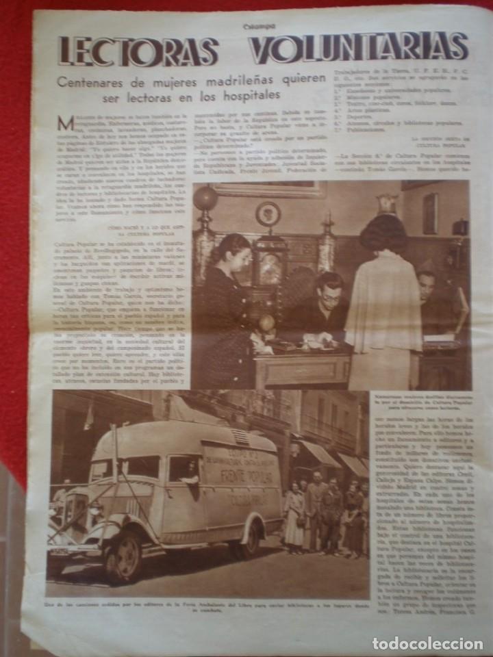 Militaria: REVISTA REPUBLICANA ESTAMPA GUERRA CIVIL 29/08/1936 MILICIANOS EN EL FRENTE MUCHAS FOTOS LAGARTERA - Foto 9 - 197679306
