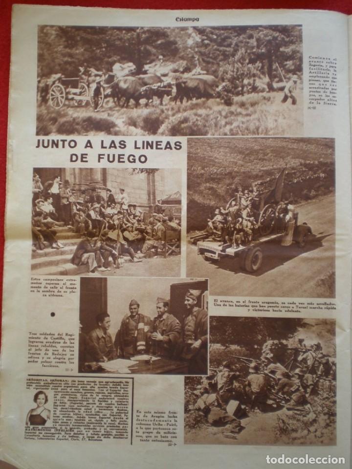 Militaria: REVISTA REPUBLICANA ESTAMPA GUERRA CIVIL 29/08/1936 MILICIANOS EN EL FRENTE MUCHAS FOTOS LAGARTERA - Foto 10 - 197679306