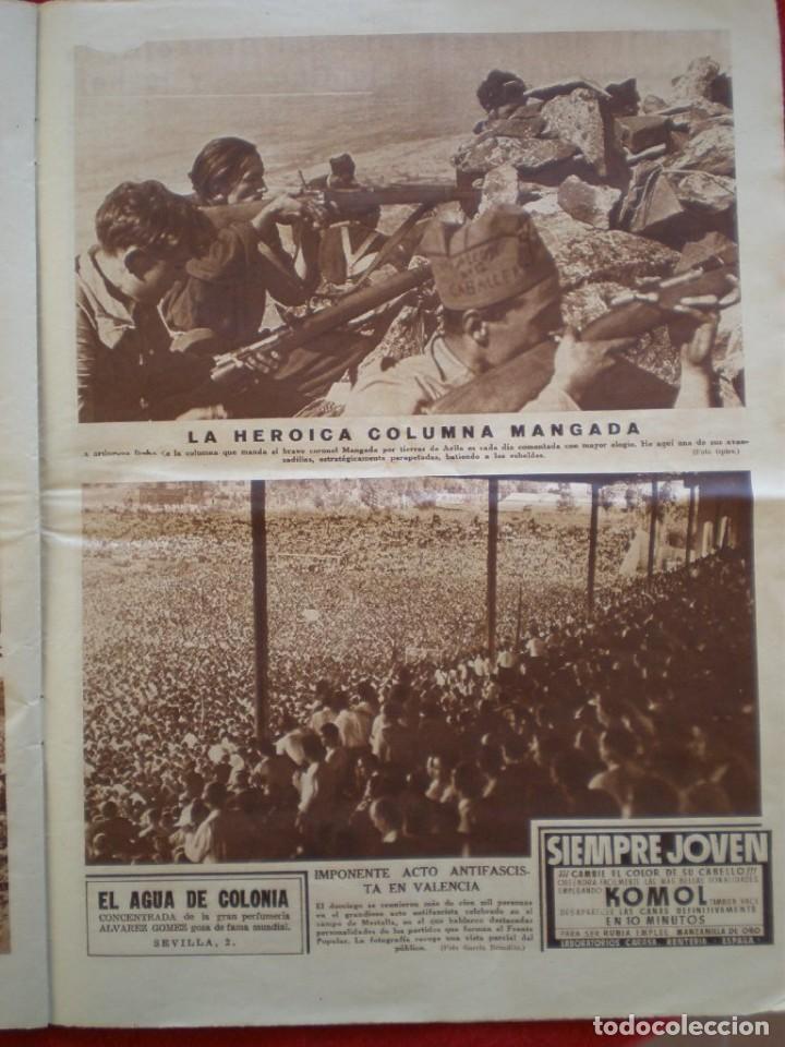 Militaria: REVISTA REPUBLICANA ESTAMPA GUERRA CIVIL 29/08/1936 MILICIANOS EN EL FRENTE MUCHAS FOTOS LAGARTERA - Foto 11 - 197679306