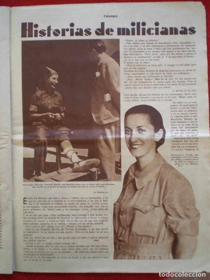Militaria: REVISTA REPUBLICANA ESTAMPA GUERRA CIVIL 29/08/1936 MILICIANOS EN EL FRENTE MUCHAS FOTOS LAGARTERA - Foto 13 - 197679306