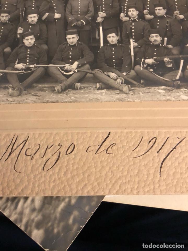Militaria: Magnifica fotografía 2 regimiento de zapadores 1917 - Foto 4 - 197793193