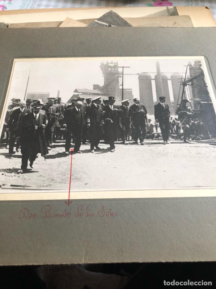 ANTIGUA FOTOGRAFÍA ORIGINAL, ALFONSO XIII Y DON RAMON DE LA SOTA (Militar - Fotografía Militar - Otros)