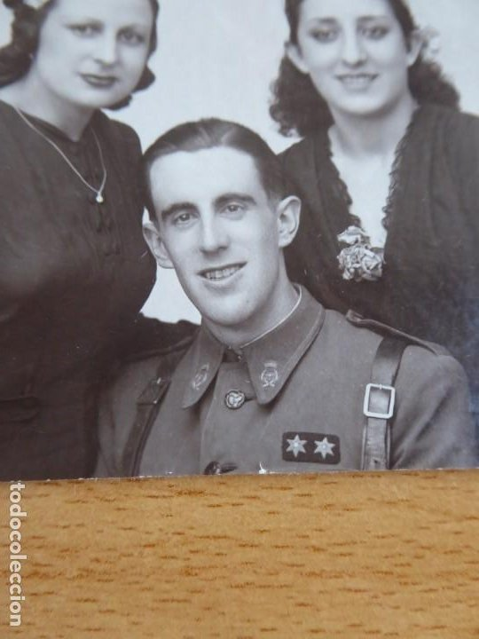 Militaria: Fotografía teniente provisional del ejército nacional. Guerra Civil - Foto 3 - 198022907
