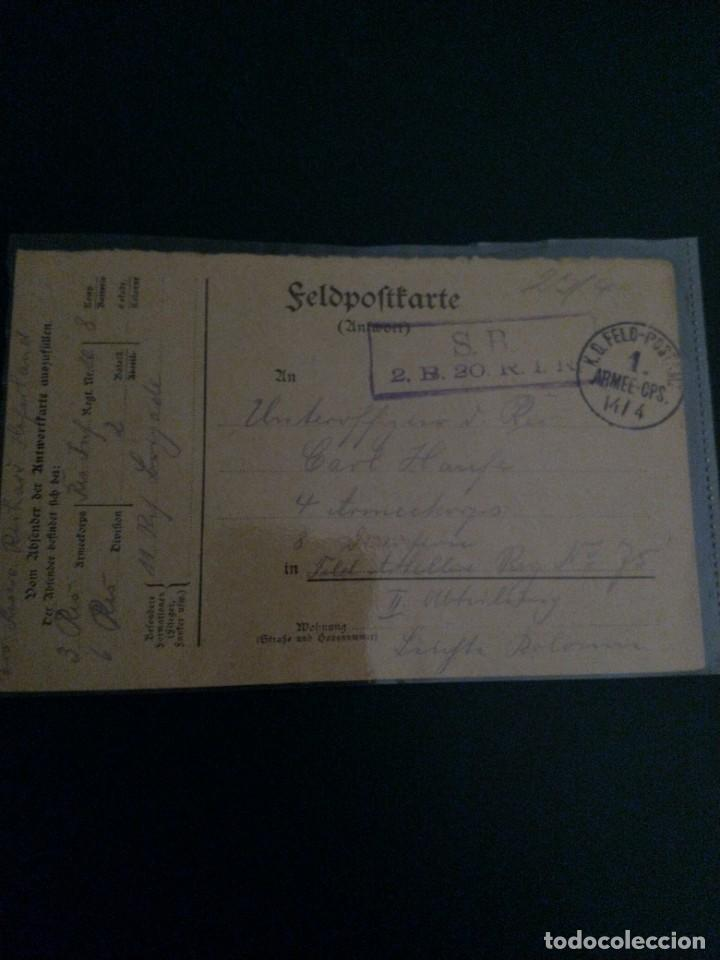 FELDPOSTKARTE WWI ALEMANIA (Militar - Fotografía Militar - I Guerra Mundial)