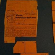 Militaria: BONOS ROPA FRAULEIN III REICH. Lote 198241095