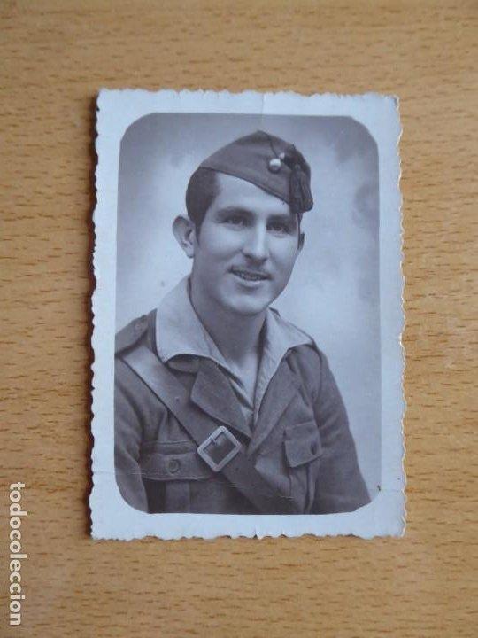 Militaria: Fotografía soldado artillería del ejército nacional. Barcelona 8-1939 - Foto 2 - 198359503