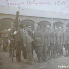 Militaria: FOTOGRAFÍA SOLDADOS ARTILLERÍA DEL EJÉRCITO NACIONAL. PARQUE DE ARTILLERÍA VALLADOLID 1936. Lote 198474325