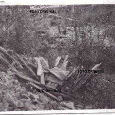 Militaria: BOMBARDEO CASERIO VASCO VIZCAYA FRENTE NORTE 1937 GUERRA CIVIL. Lote 198771806