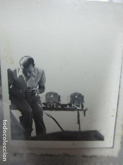 Militaria: antigua foto guerra civil ESPAÑA DEUTSCHER FOTOGRAF MILITAR LEGION CONDOR CON SUS CAMARAS CIRCA 1939 - Foto 5 - 198781041