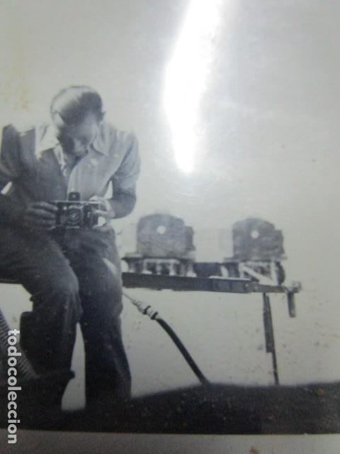 Militaria: antigua foto guerra civil ESPAÑA DEUTSCHER FOTOGRAF MILITAR LEGION CONDOR CON SUS CAMARAS CIRCA 1939 - Foto 6 - 198781041