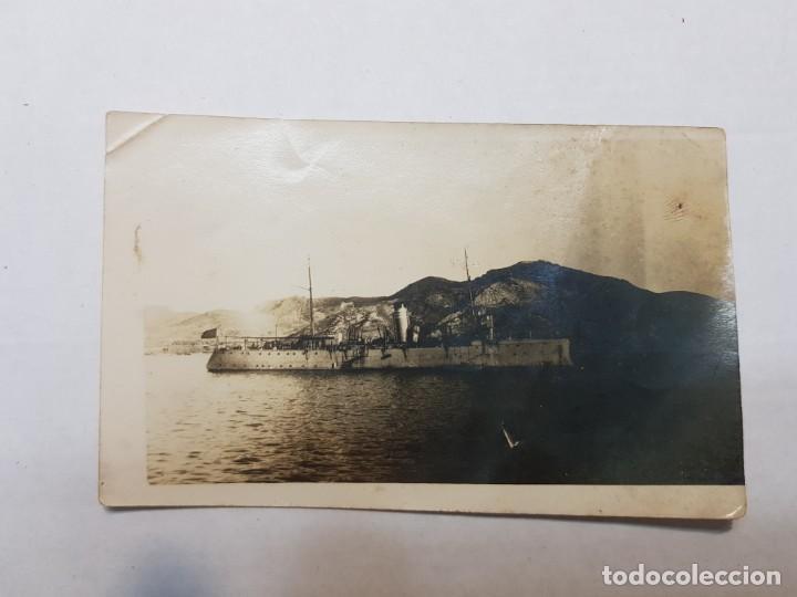 Militaria: Fotografía Barco Militar a Carbon en Puerto Español - Foto 2 - 199125250