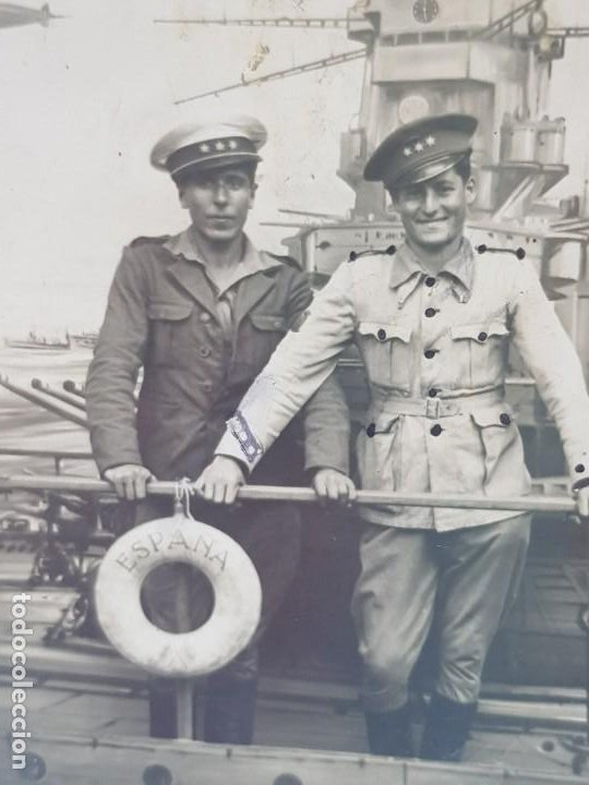 FOTOGRAFÍA CAPITANES DEL EJÉRCITO ESPAÑOL (Militar - Fotografía Militar - Guerra Civil Española)