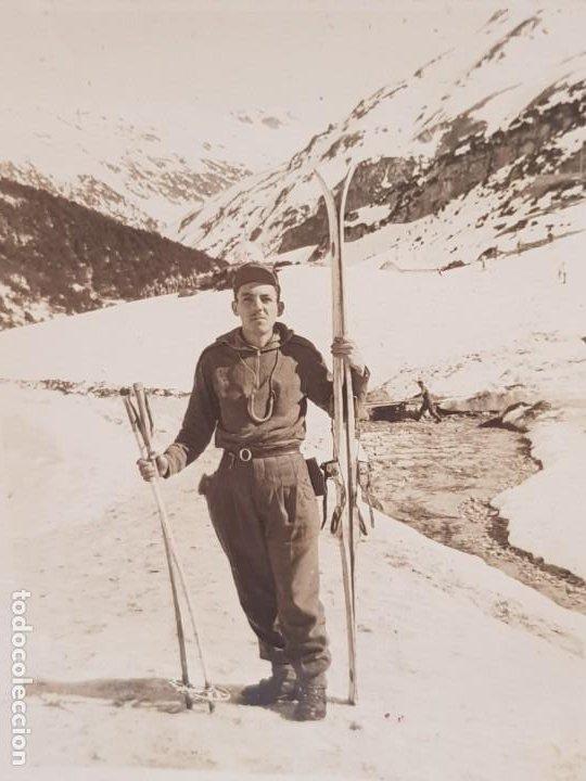 FOTOGRAFÍA ZAPADOR ESPAÑOL EN JACA FOTOS BARRIO JACA (Militar - Fotografía Militar - Guerra Civil Española)
