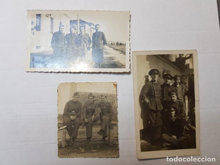 FOTOGRAFÍAS MILITARES ESPAÑOLES DISTINTOS CUERPOS LOTE 3 (Militar - Fotografía Militar - Guerra Civil Española)