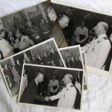 Militaria: DOCUMENTO FOTOGRÁFICO AUDIENCIA DE FRANCISCO FRANCO A CATEDRÁTICO CARLOS LÓPEZ HERRERA, AÑOS 60. Lote 199517835