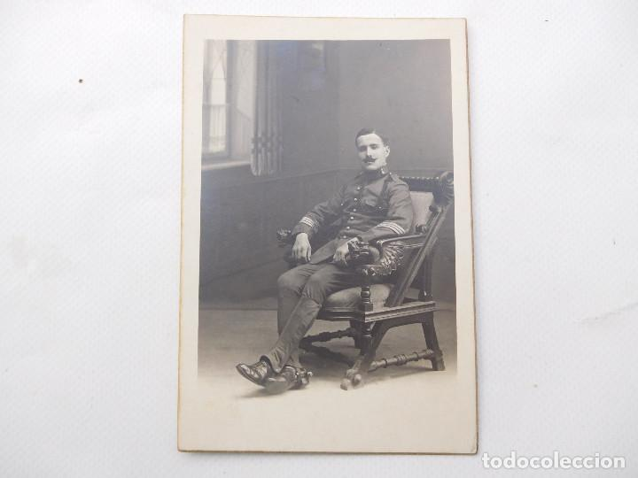 FOTOGRAFÍA DE MILITAR DE ARTILLERÍA. F. ALONSO BARCELONA (Militar - Fotografía Militar - Otros)