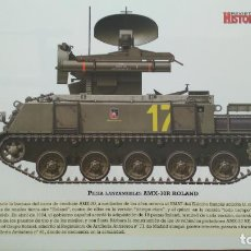 Militaria: LAMINA FICHA MILITAR PIEZA LANZAMISILES AMK-30R ROLAND. Lote 199684975