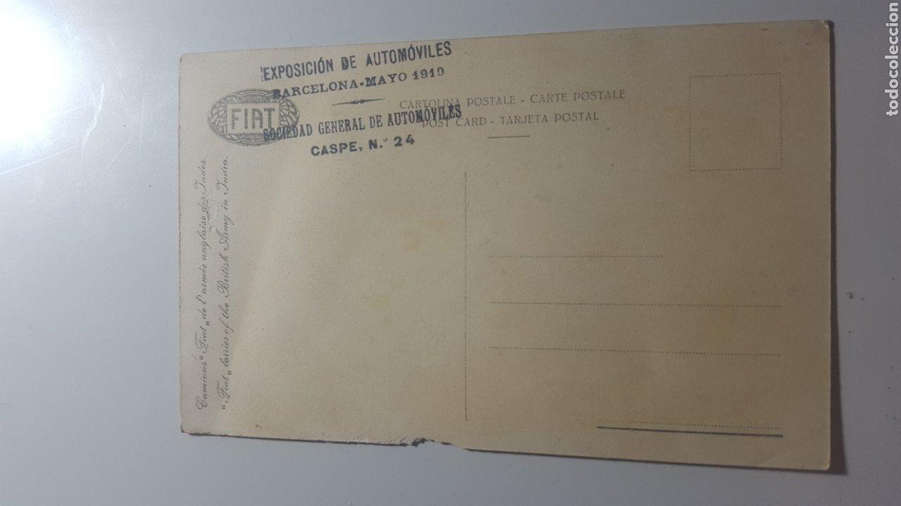 Militaria: MAYO 1919 EXPOSICION DE AUTOMOVILES BARCELONA. CAMIONES MILITARES FIAT PARA EL EJÉRCITO BRITÁNICO - Foto 2 - 199685015