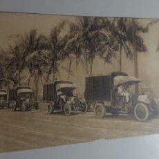 Militaria: MAYO 1919 EXPOSICION DE AUTOMOVILES BARCELONA. CAMIONES MILITARES FIAT PARA EL EJÉRCITO BRITÁNICO. Lote 199685015