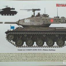 Militaria: LAMINA FICHA MILITAR CARRO DE COMBATE LIGERO M-41 WALKER BULLLOG. Lote 199685048