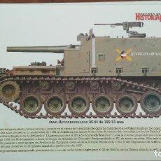 Militaria: LAMINA FICHA MILITAR OBUS AUTOPROPULSADO M-44. Lote 199685107