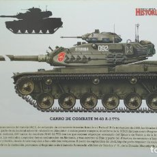 Militaria: LAMINA FICHA MILITAR CARRO DE COMBATE M-60 A-3 TTS. Lote 199685290