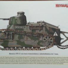 Militaria: LAMINA FICHA MILITAR RENAULT FT-17. Lote 199685356