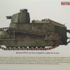Militaria: LAMINA FICHA MILITAR RENAULT FT-17. Lote 199685380