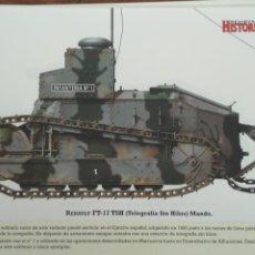 Militaria: LAMINA FICHA MILITAR RENAULT FT-17 TSH. Lote 199685400